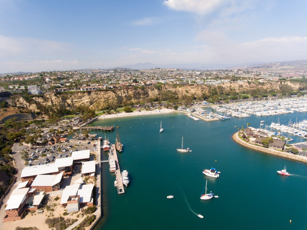 Aerial view of Dana Point, California